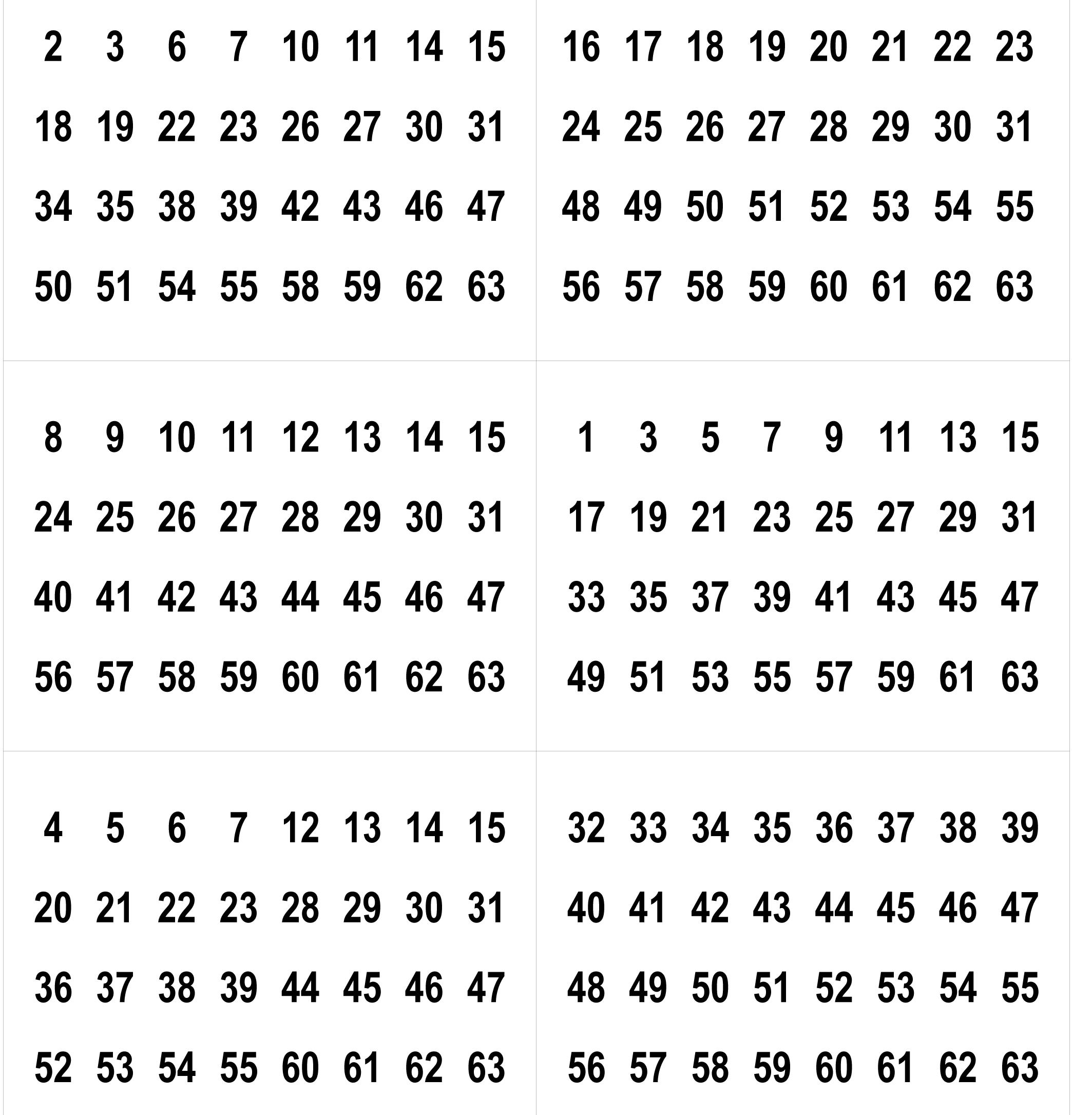 Tour De Magie : La Magie Binaire intérieur Jeux Avec Des Nombres