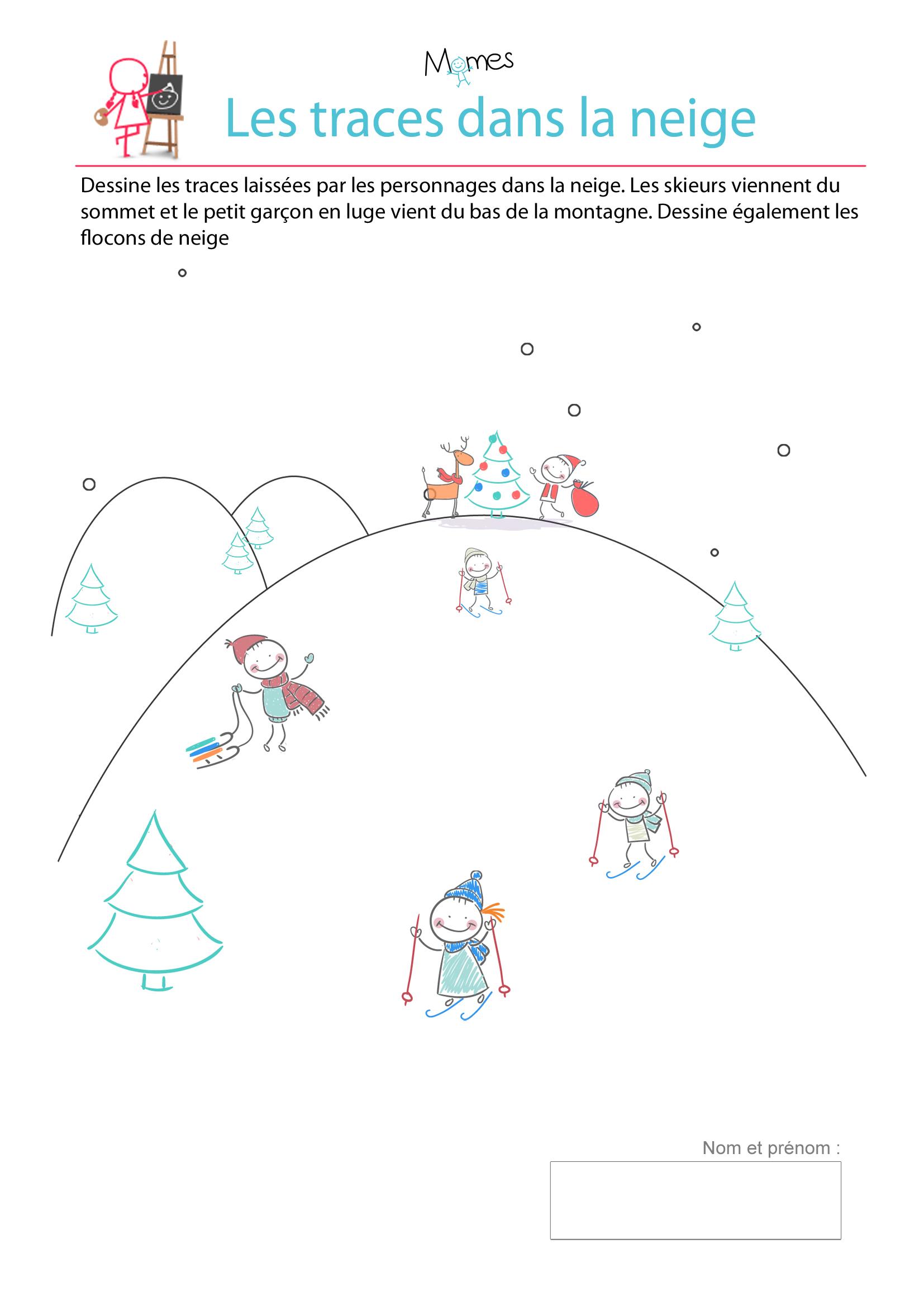 Tous En Piste Pour Noël - Exercice De Tracé - Momes intérieur Activité Primaire A Imprimer