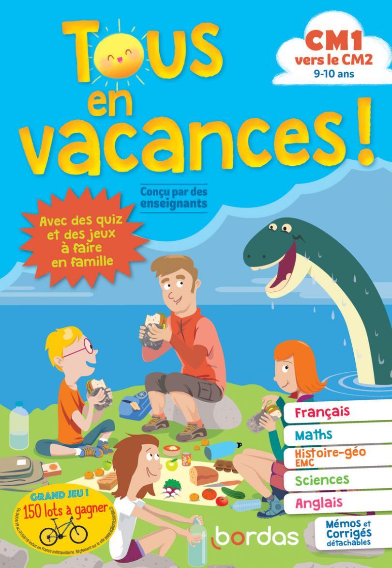 Tous En Vacances ! Du Cm1 Au Cm2 * Cahier D'activités/d intérieur Cahier De Vacances À Imprimer