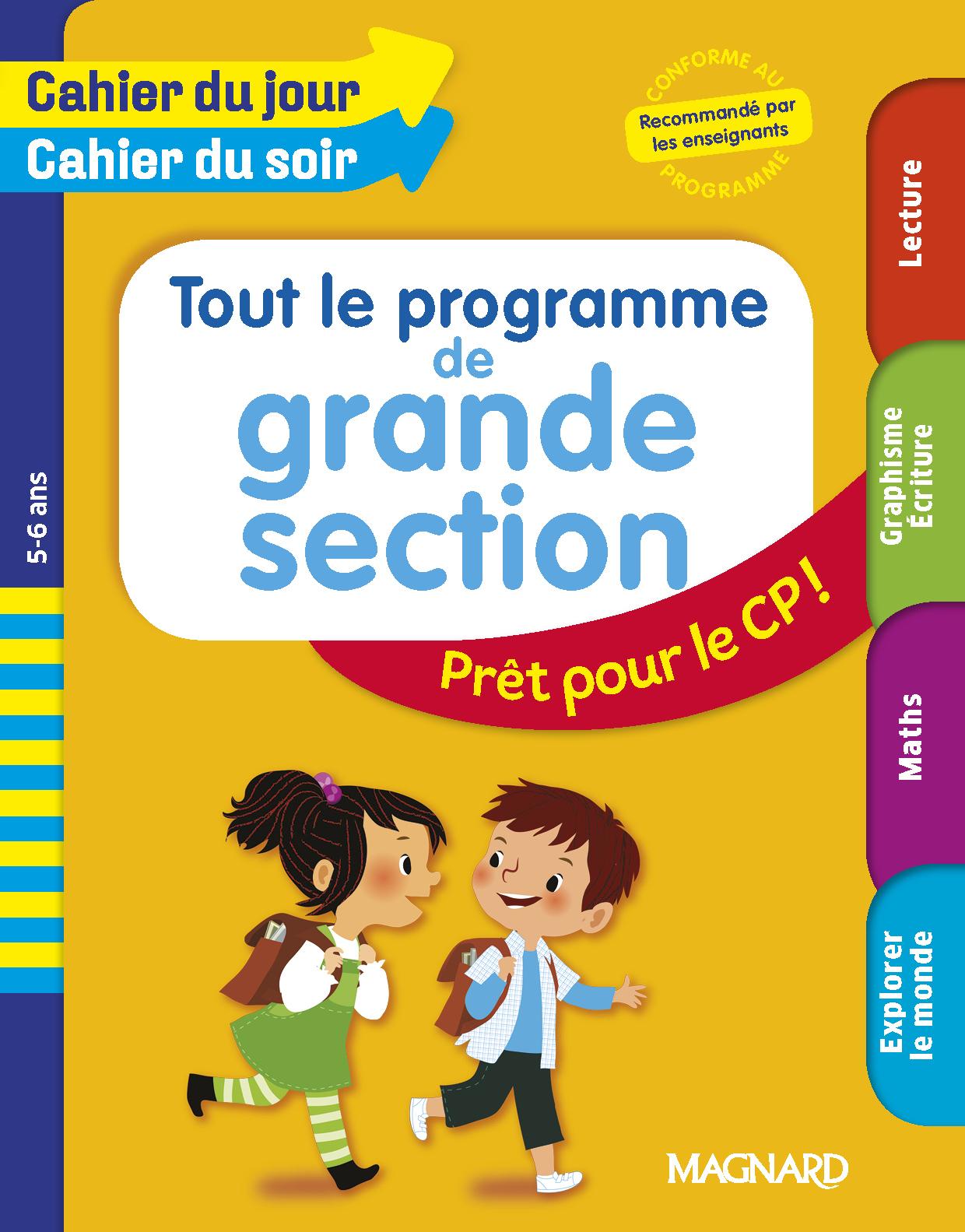 Tout En Un Cahier Du Jour/cahier Du Soir Gs | Editions Magnard tout Programme Grande Section Maternelle Gratuit