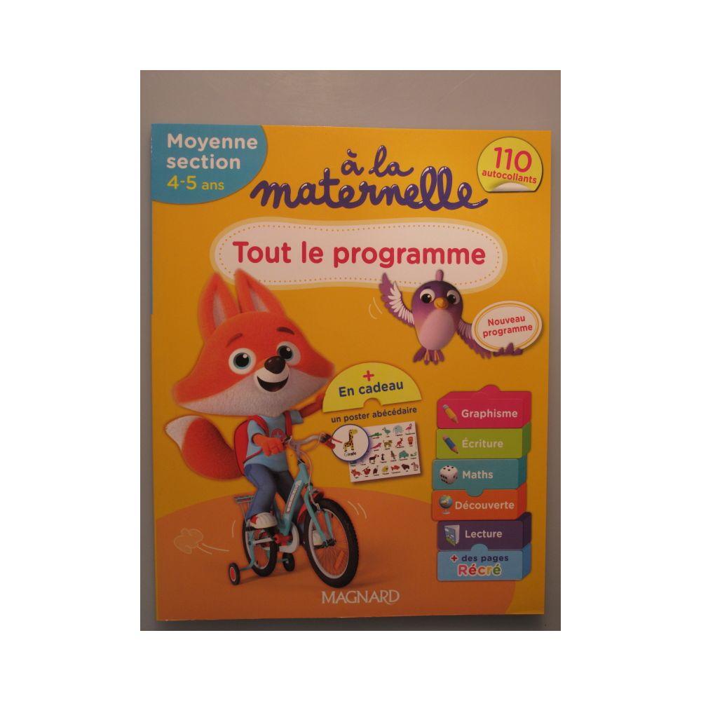 Tout Le Programme. A La Maternelle, Moyenne Section 4,5 Ans destiné Livre Graphisme Maternelle