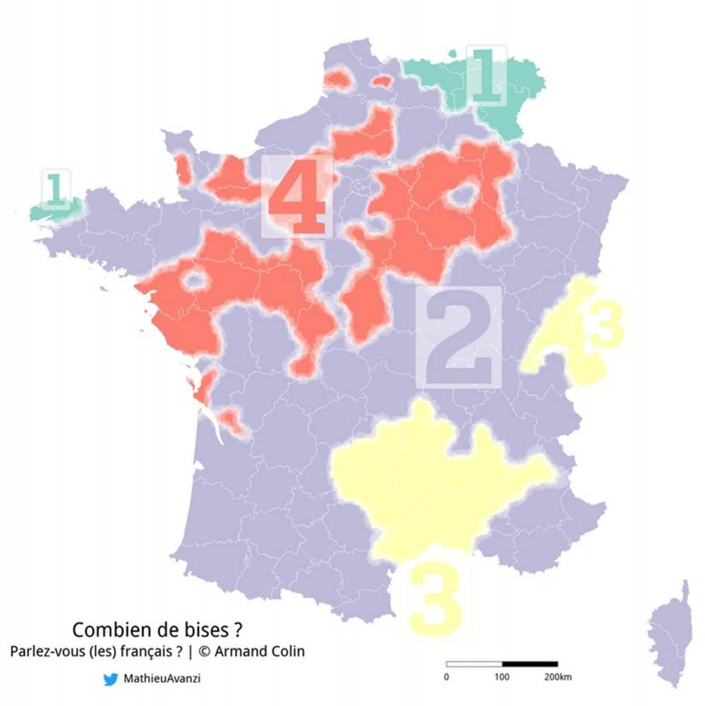 Tout Sur La Bise ! - Le Point destiné Combien De Region En France
