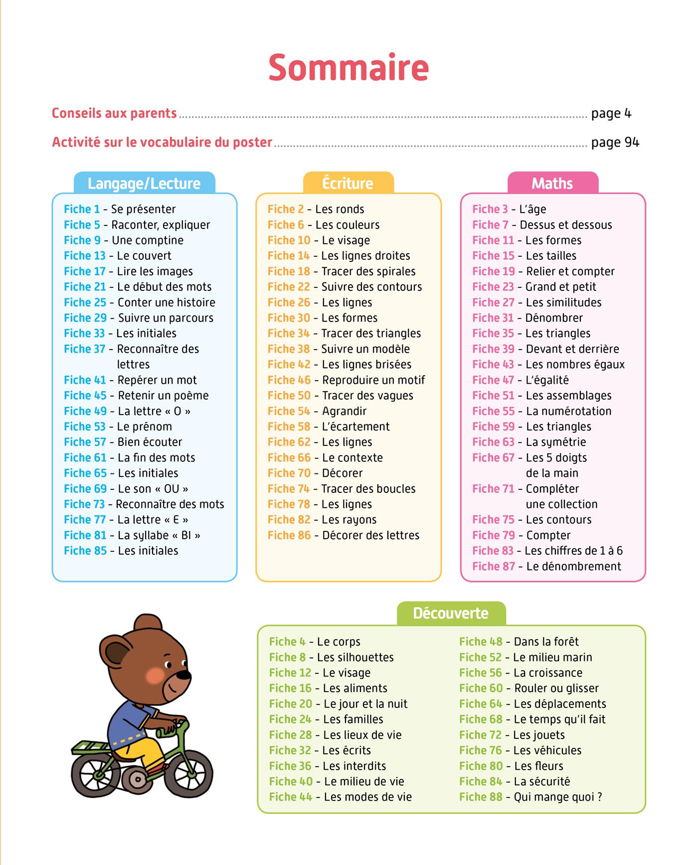 Toute Ma Maternelle- Tout Le Programme - Petite Section concernant Programme Grande Section Maternelle Gratuit
