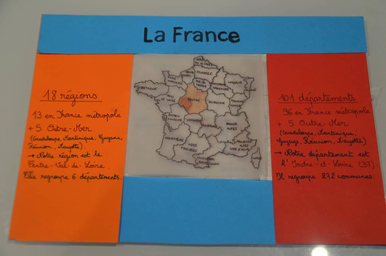 Trace Écrite Qui Se Manipule - Géographie - La France intérieur Fleuves Ce2