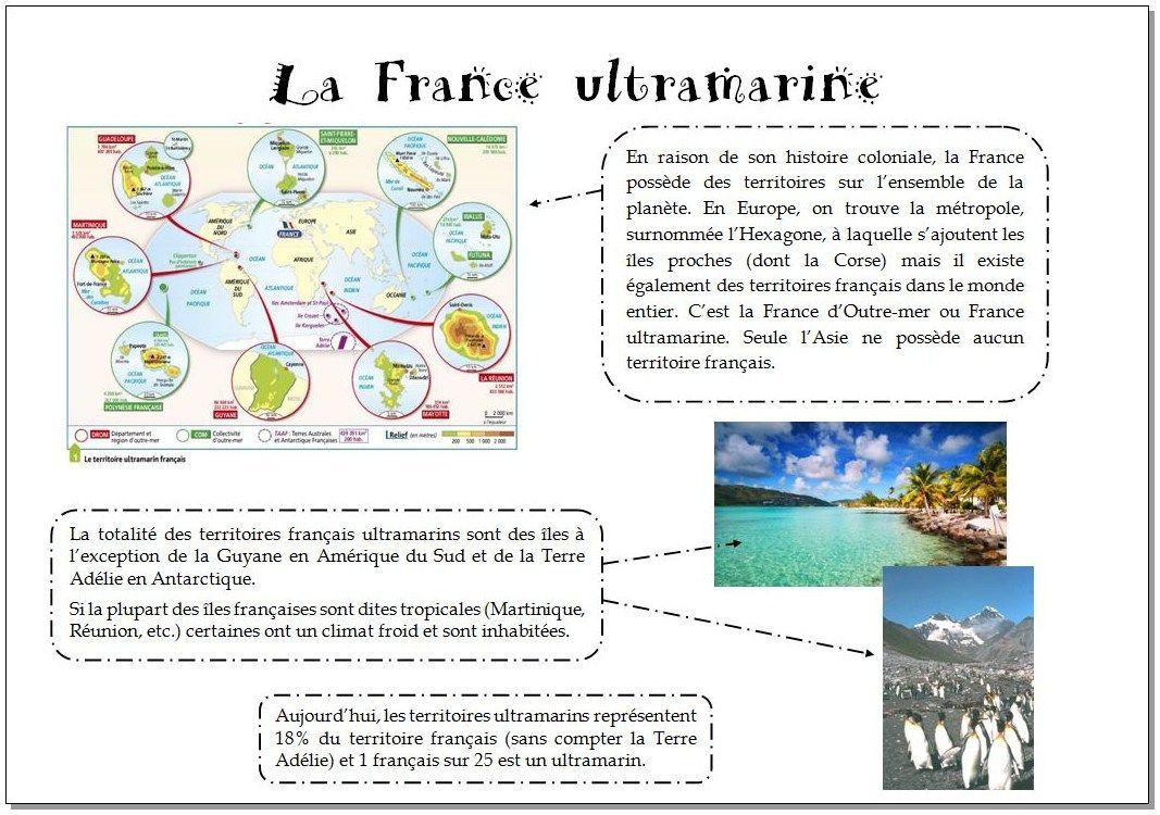 Trace Écrite Sur La France D'outre-Mer En Version Pleine Ou à France Territoires D Outre Mer