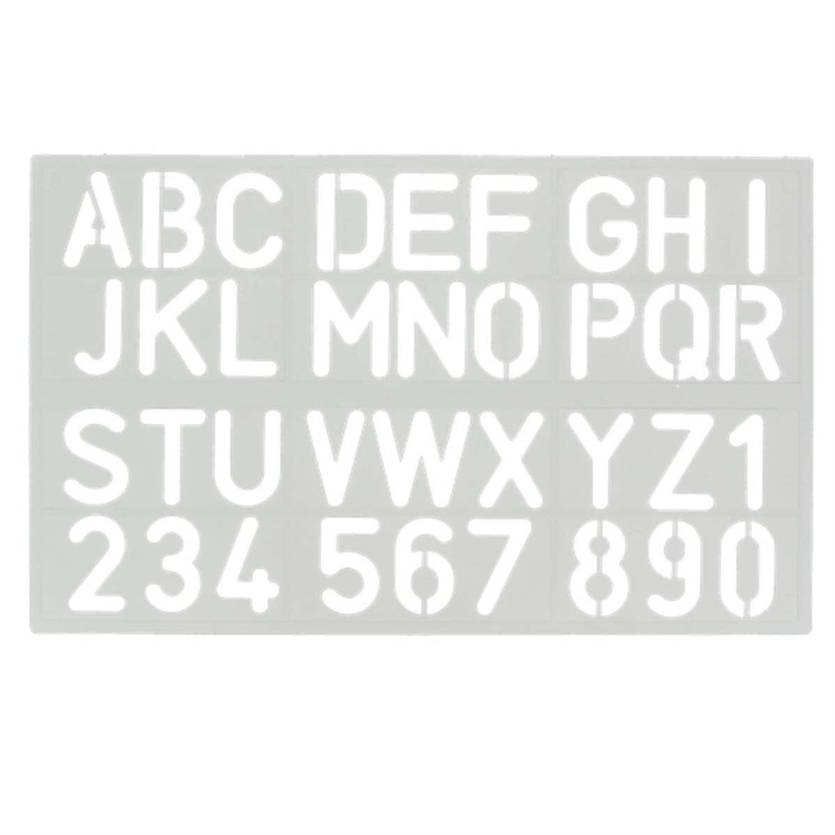 Trace-Lettres - Majuscules Et Chiffres - Hauteur 30 Mm avec Gros Chiffres À Imprimer