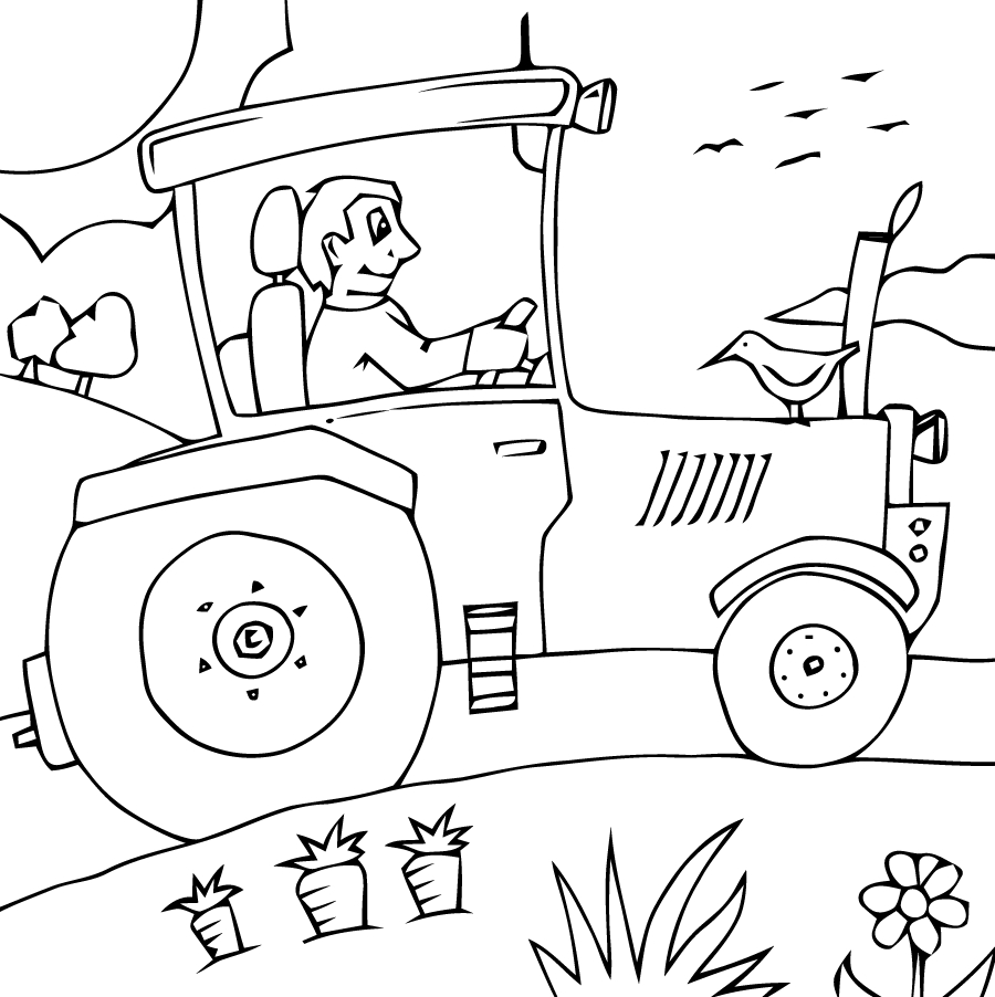 Tracteur #11 (Transport) – Coloriages À Imprimer destiné Tracteur À Colorier