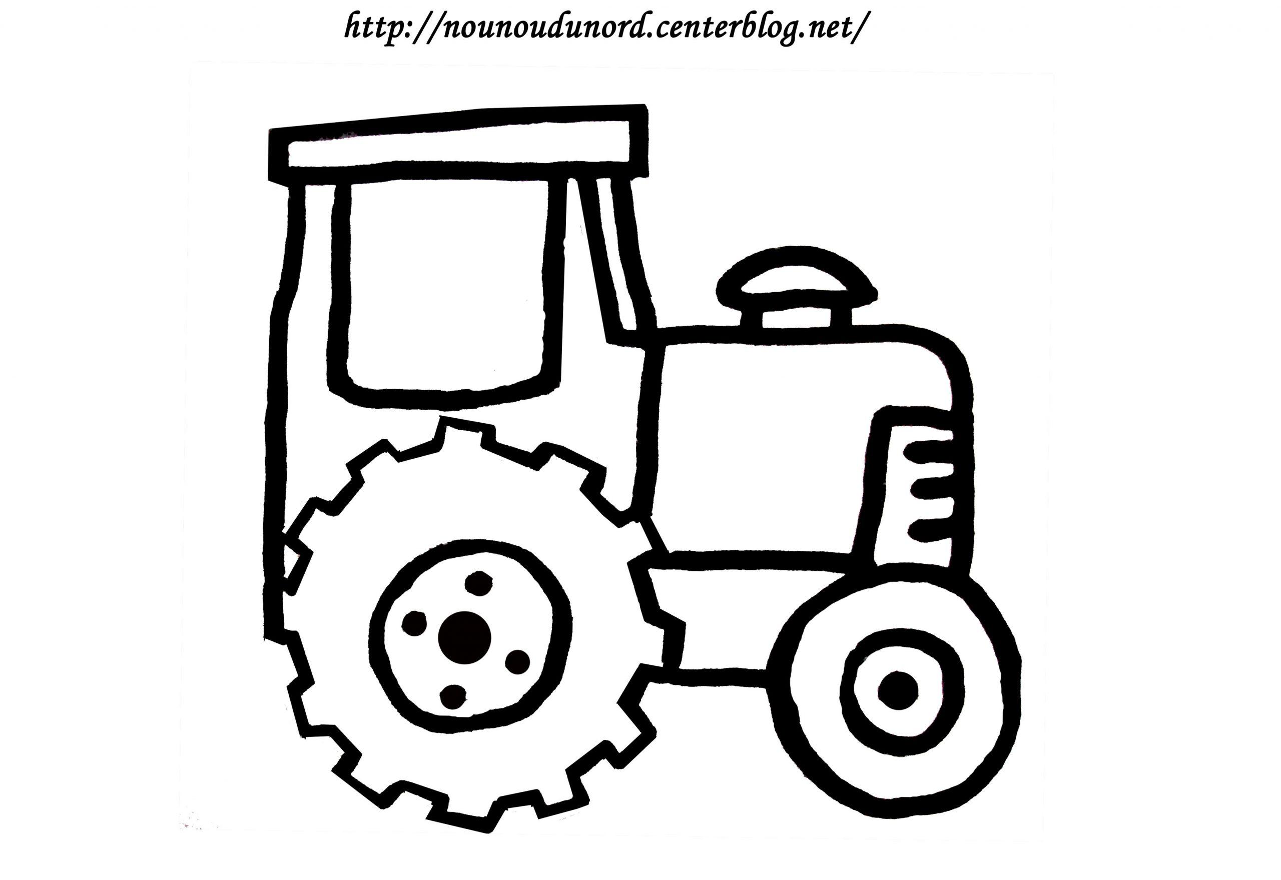 Tracteur #43 (Transport) – Coloriages À Imprimer avec Dessin De Tracteur À Colorier