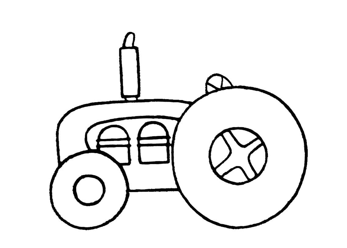 Tracteur #67 (Transport) – Coloriages À Imprimer concernant Dessin De Tracteur À Colorier