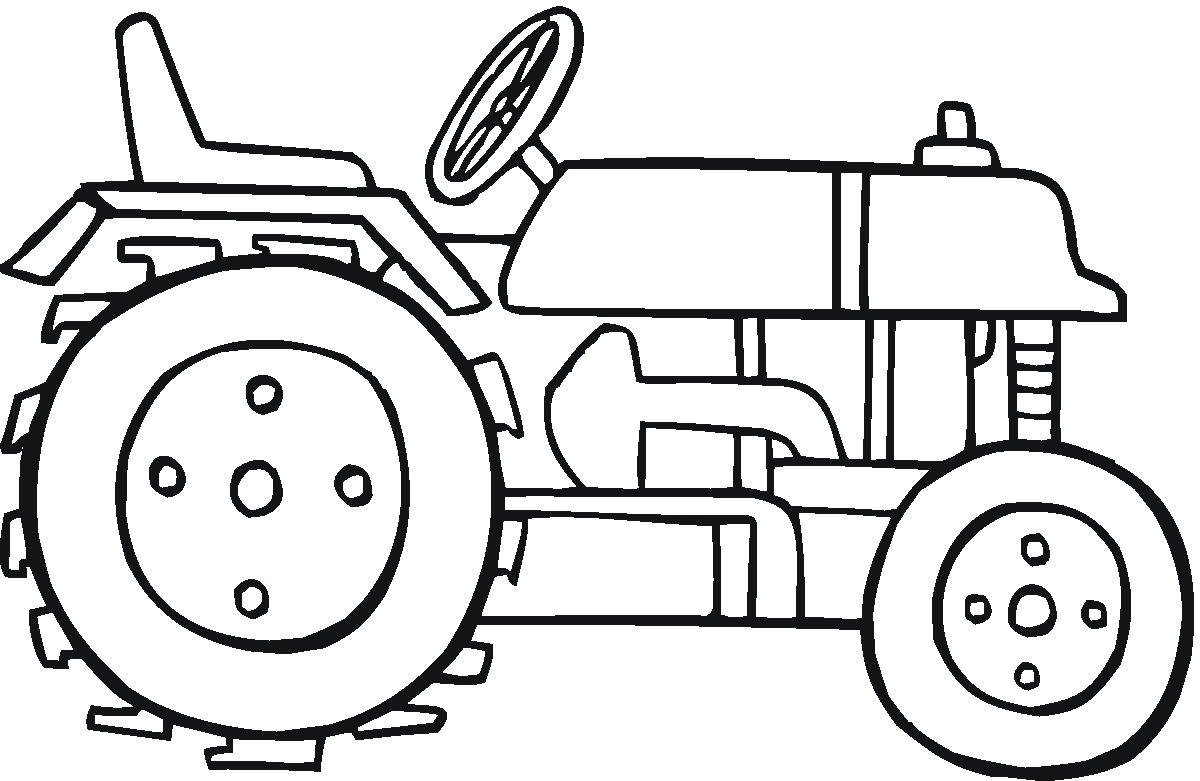 Tracteur : Coloriage De Tracteur Gratuit À Imprimer Et Colorier tout Dessin De Tracteur À Colorier
