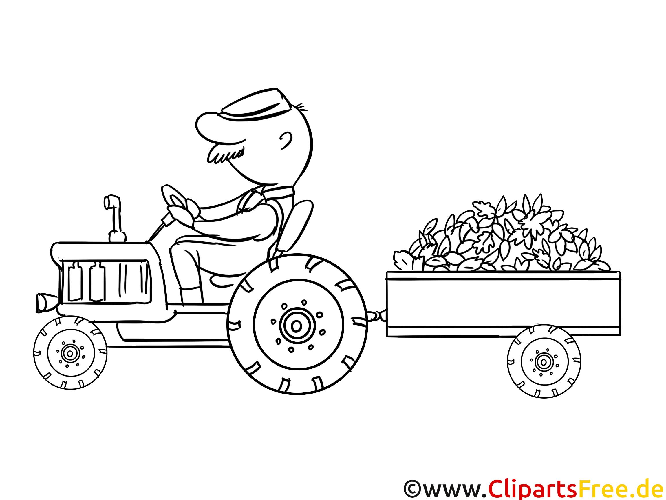 Tracteur Dessin À Télécharger – Campagne À Colorier - Ferme avec Tracteur À Colorier
