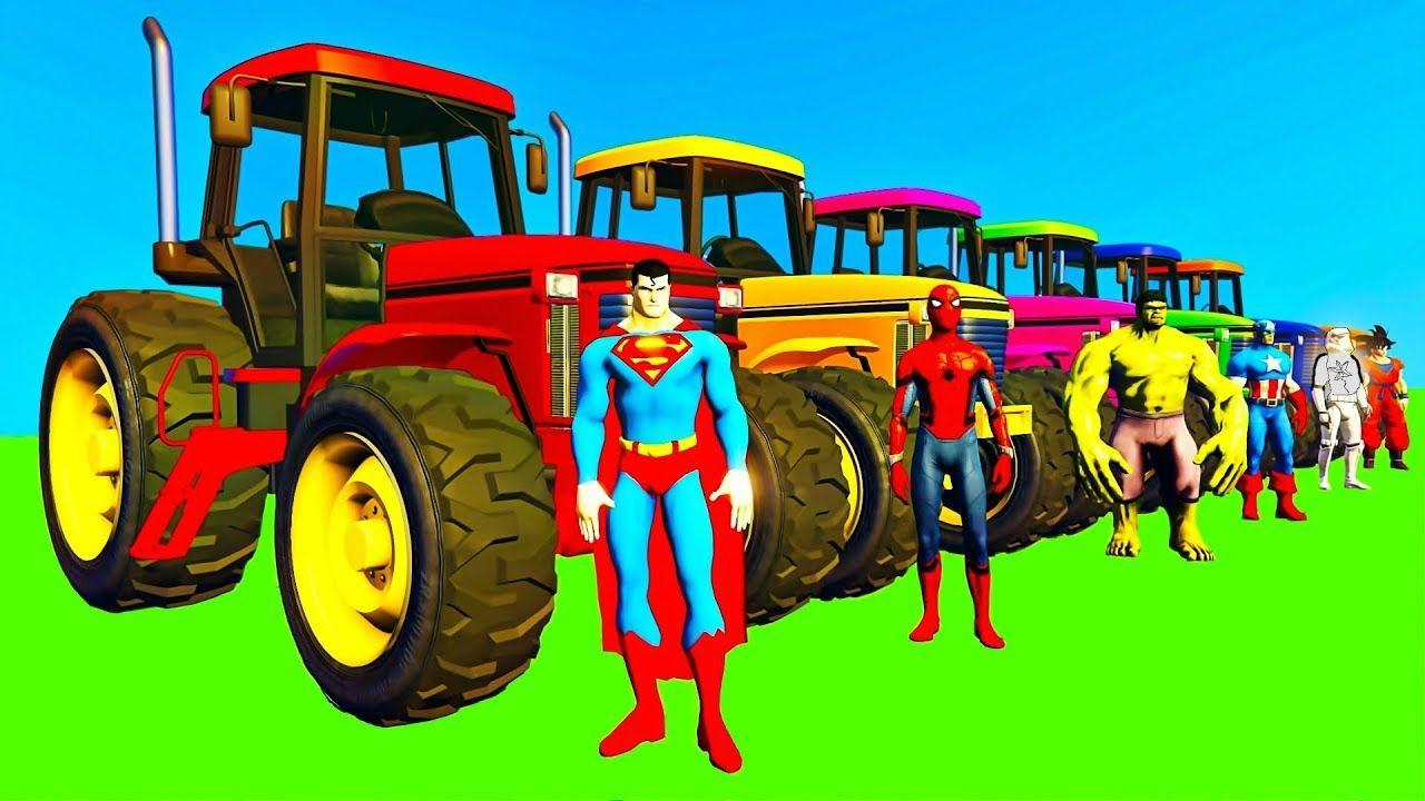 Tracteur Dessins Animés Pour Enfants & Vidéo Avec Voitures encequiconcerne Dessin Animé De Tracteur John Deere