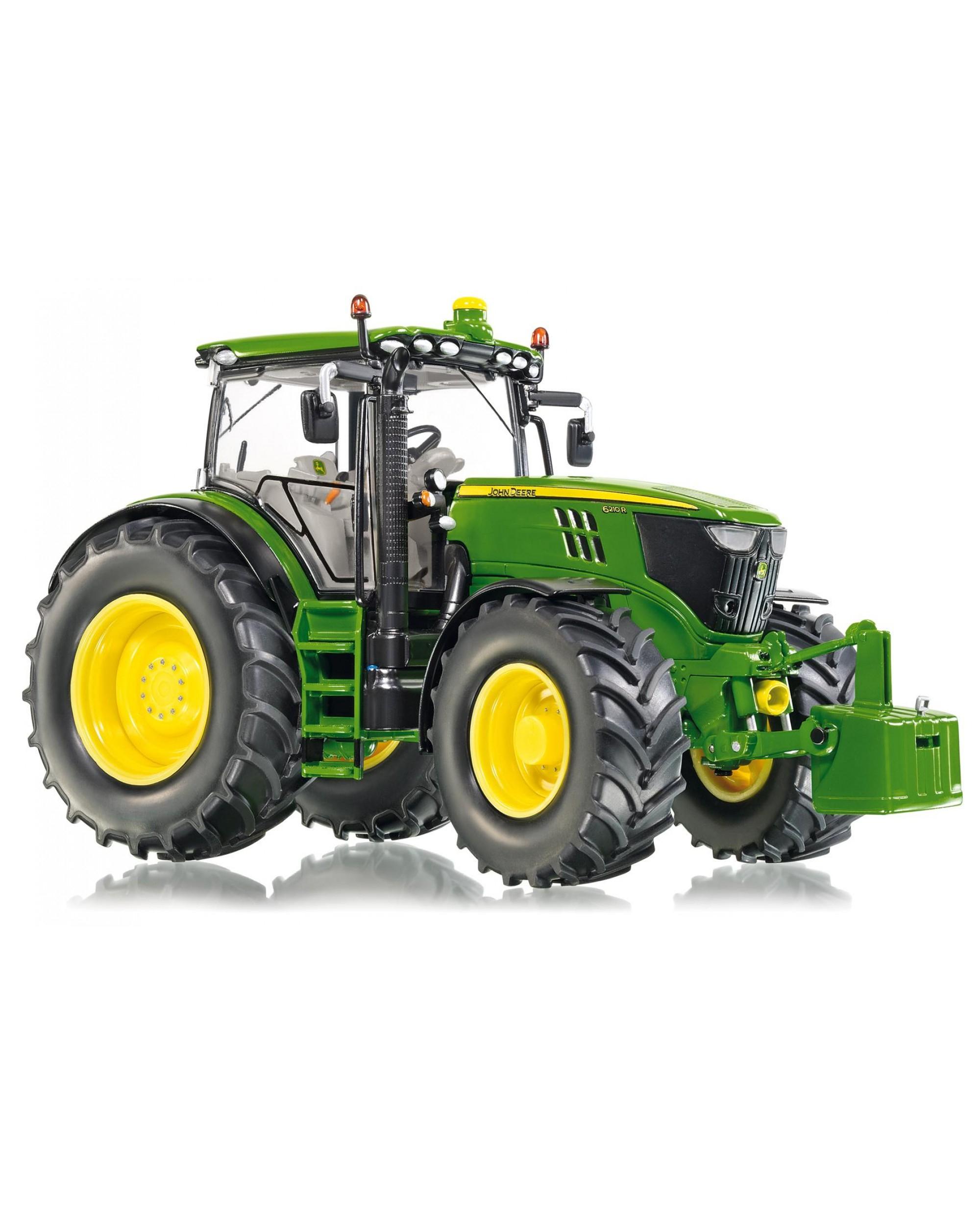 Tracteur John Deere 6210 R Équipé Du Relevage Avant Avec Masse intérieur Dessin Animé De Tracteur John Deere