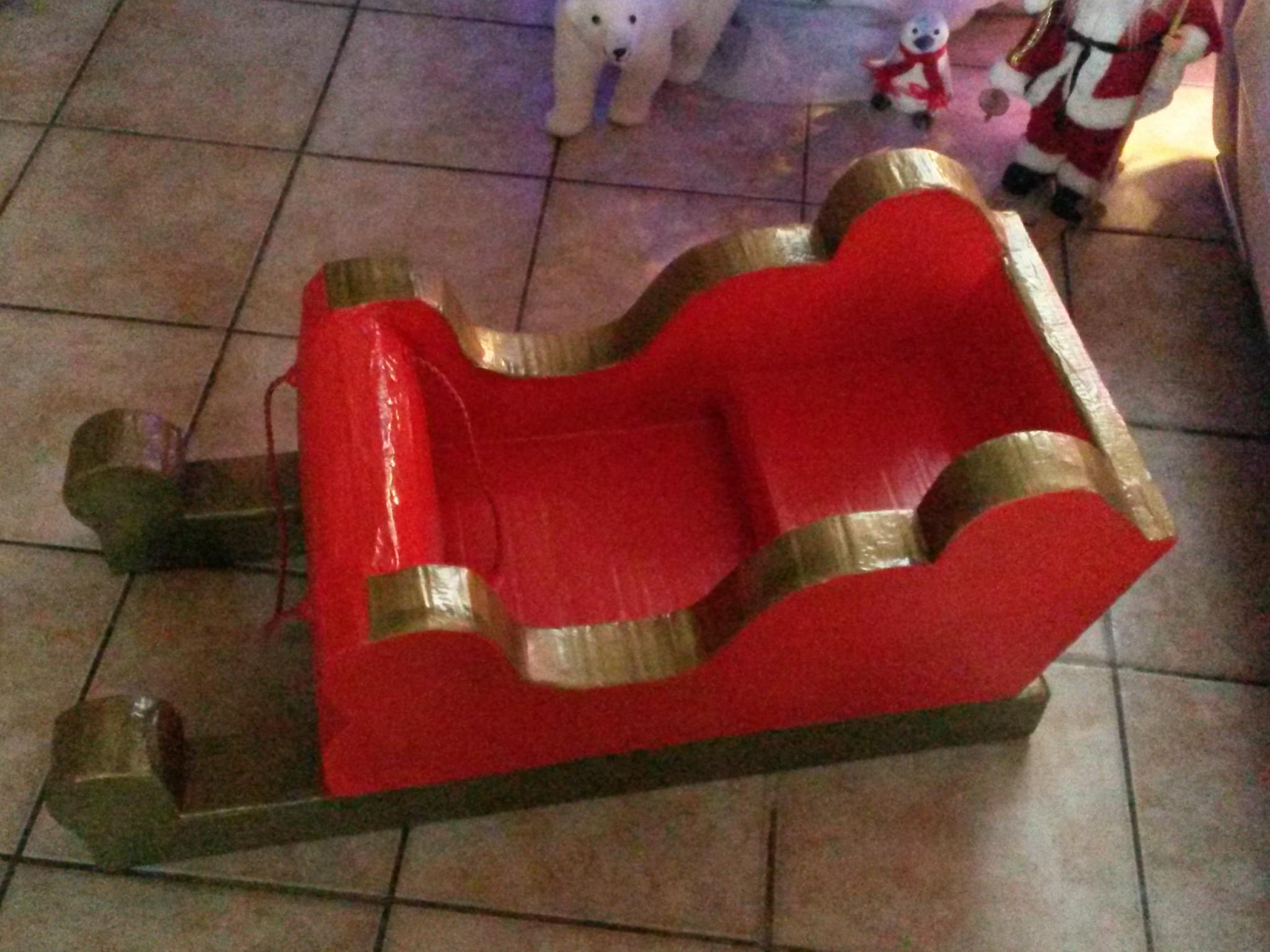 Traîneau Du Père Noël En Carton - Les Créations De Katytortue pour Fabrication De Pere Noel