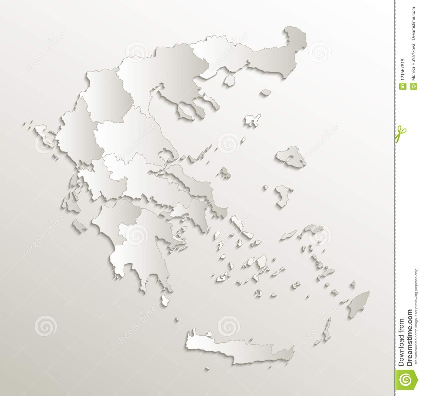Trame Naturelle Vierge Individuelle Du Papier 3D De Carte De encequiconcerne Carte Des Régions Vierge