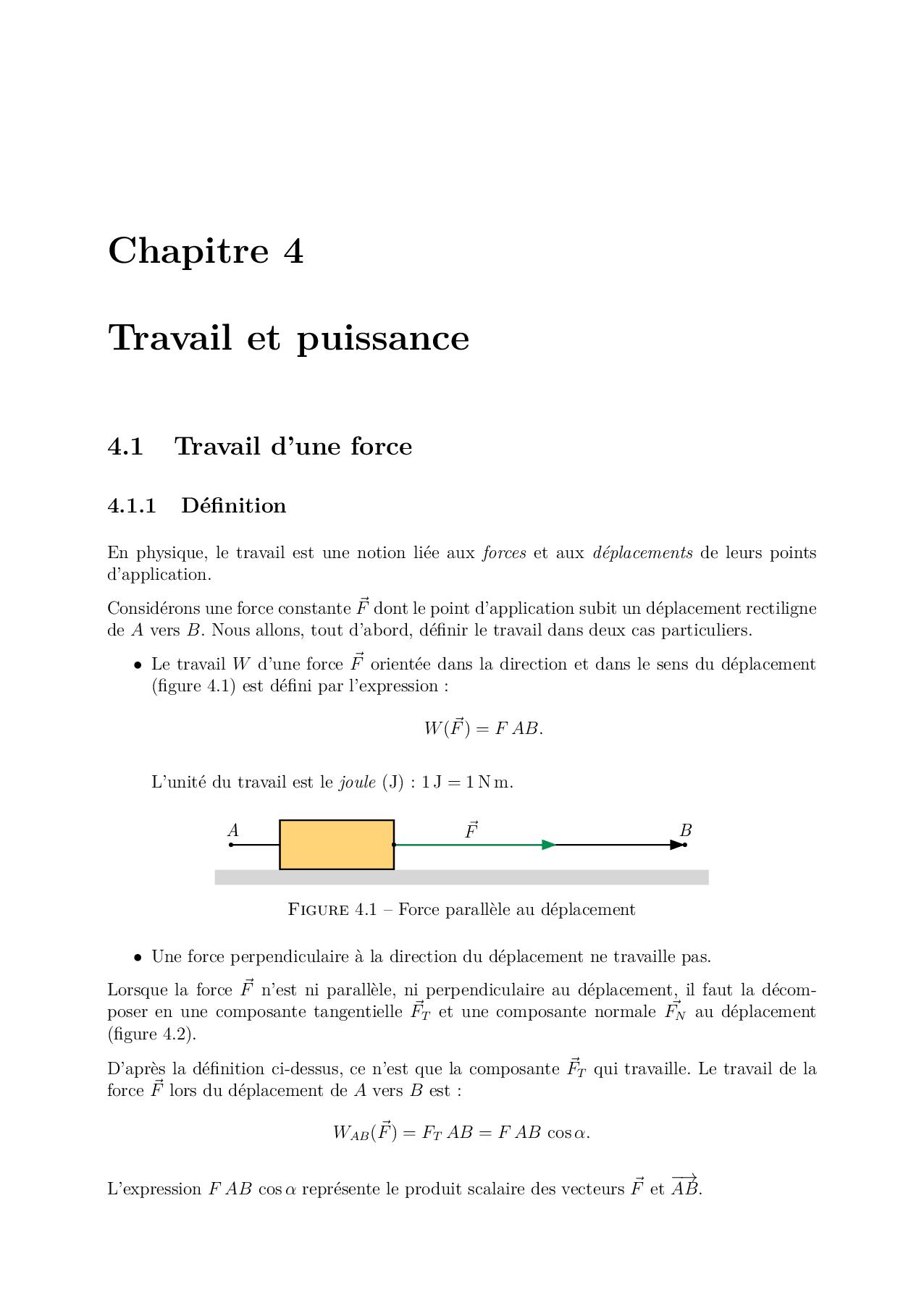 Travail Et Puissance Avec Exercices - Docsity intérieur Puissance 4 A Deux