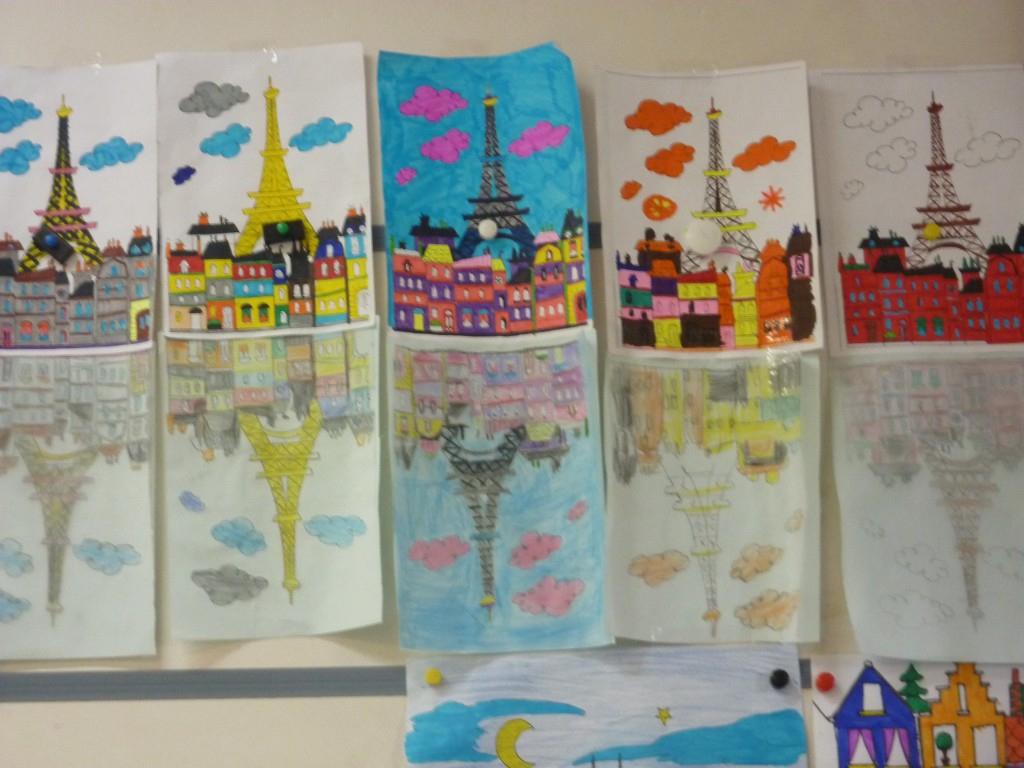 Travail Sur La Symétrie En Arts Visuels - Ecole Montfort dedans Arts Visuels Symétrie