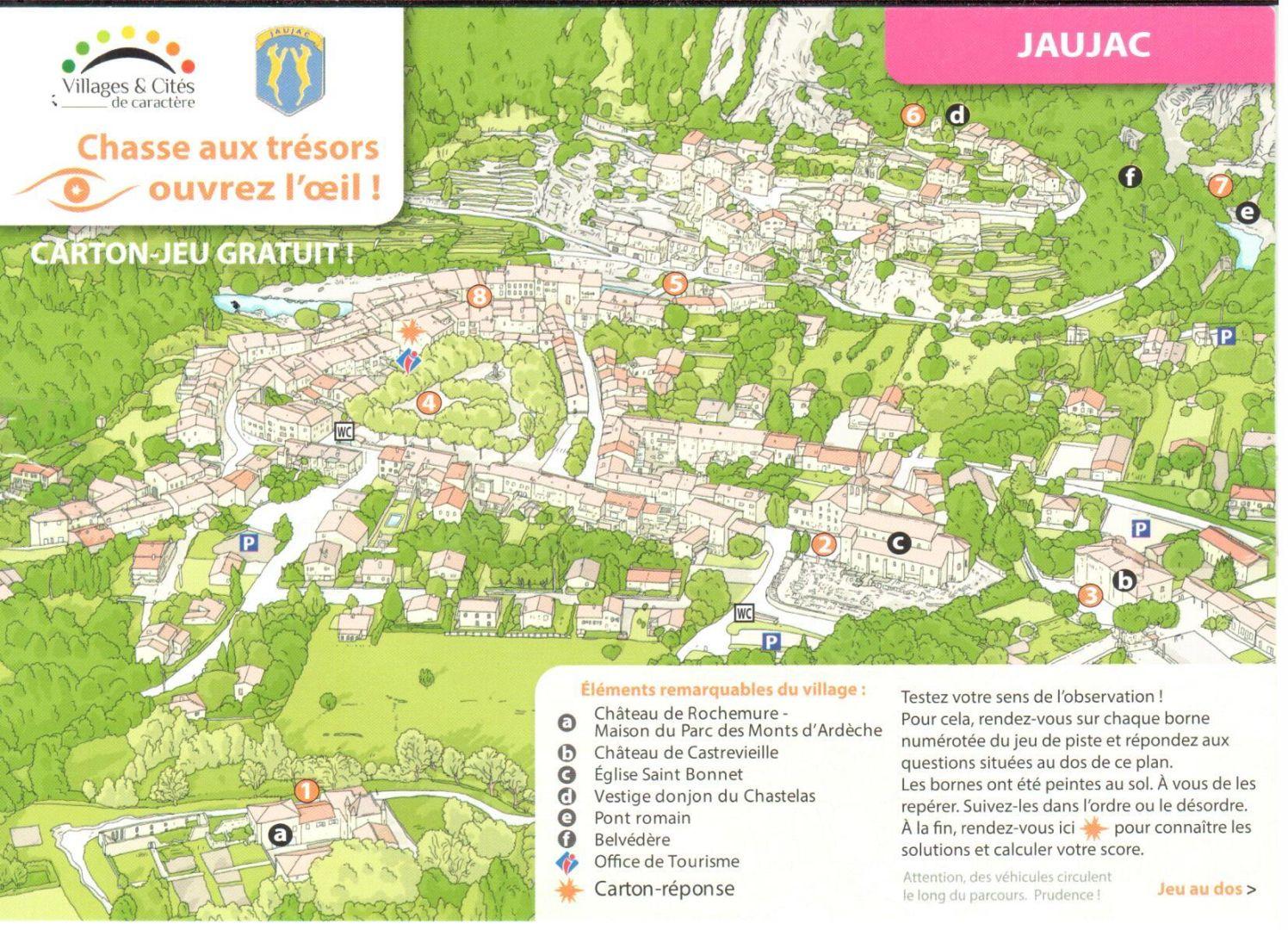 Treasure Hunt : What To Do In Ardeche Jaujac | Ardeche-Guide dedans Jeux De Parcours Gratuit