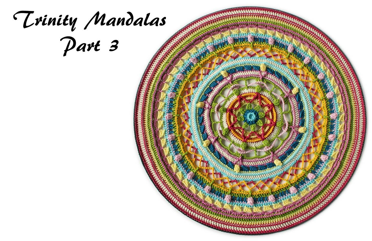 Trinity Mandalas Part 3 – Free Crochet Pattern | It's All In concernant Mandala Fée