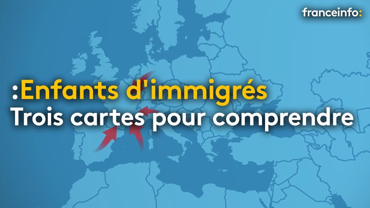 Trois Cartes Pour Comprendre La Situation Des Enfants D'immigrés En France  - France à Carte De France Pour Enfant