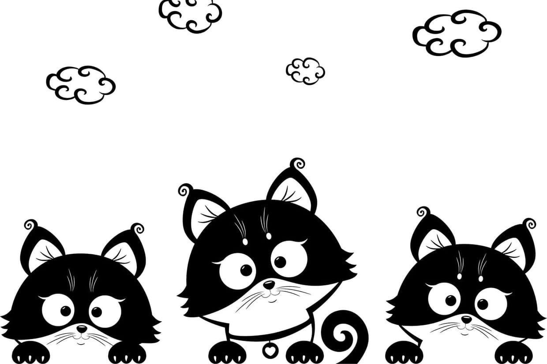 Trois P'tits Minous, Chansons Pour Enfants Sur Hugolescargot intérieur Minou Dessin