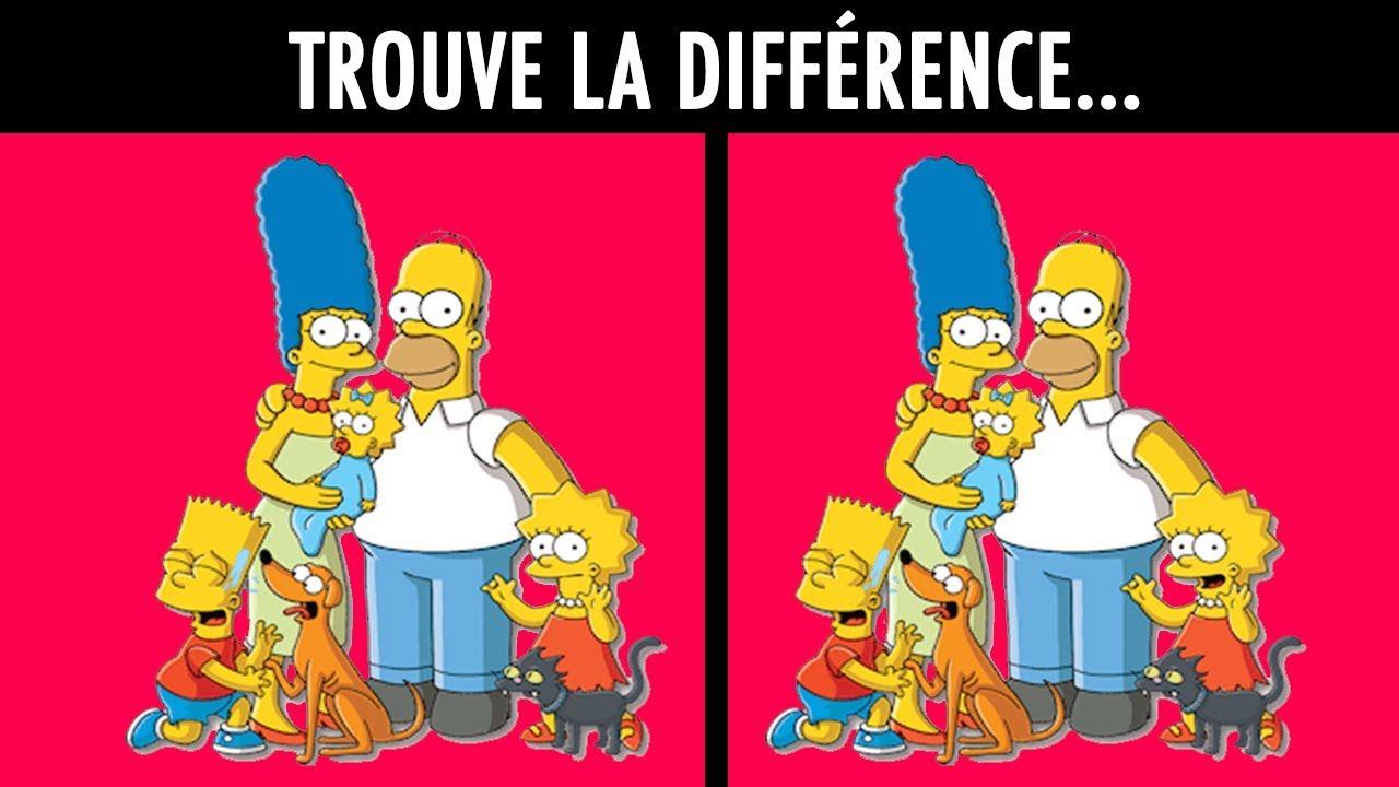 Trouve La Différence ! (Spécial Les Simpson) pour Trouver La Différence
