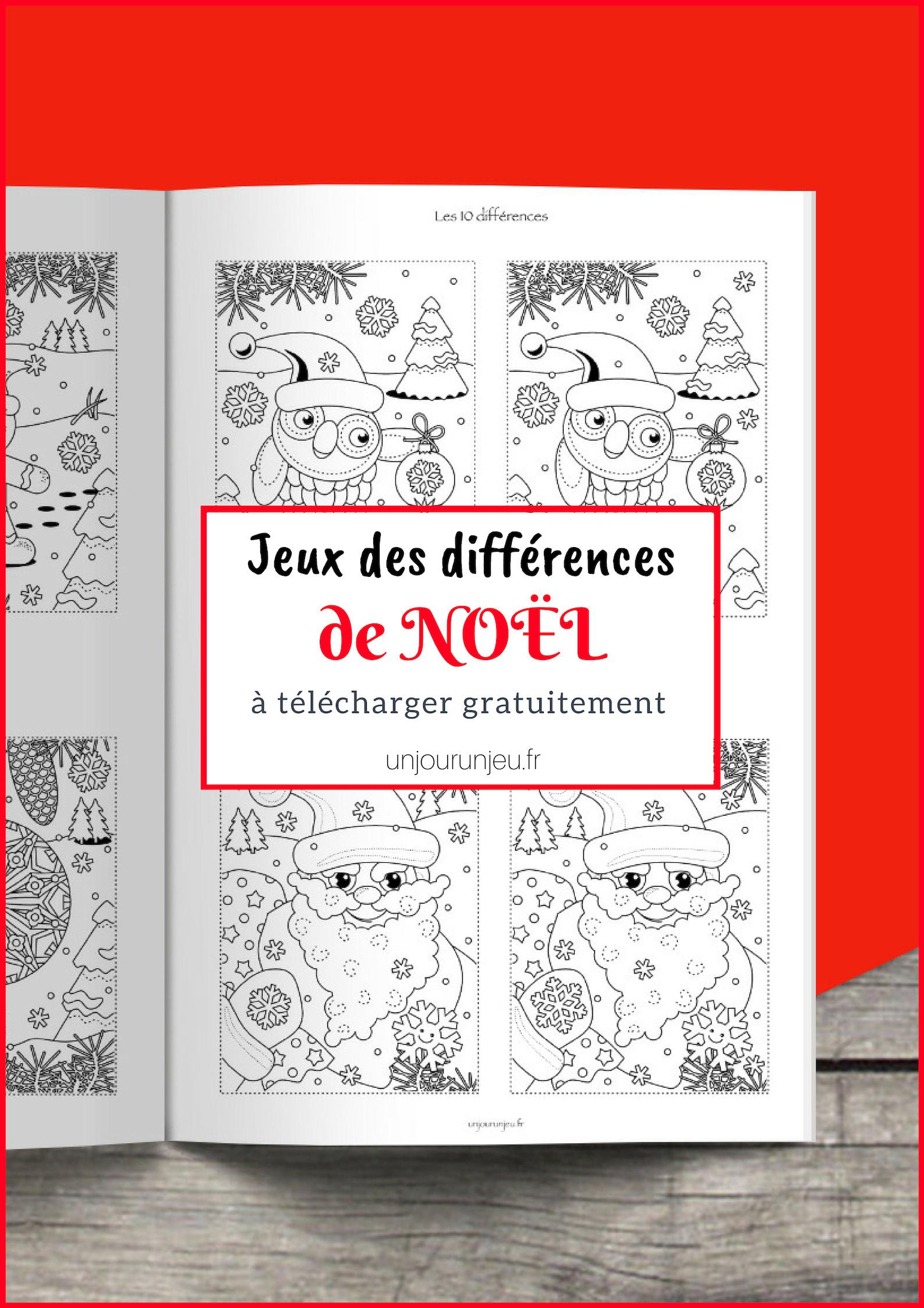Trouve Les Différences : 11 Modèles De Noël À Imprimer pour Jeux Des Differences Gratuit A Imprimer