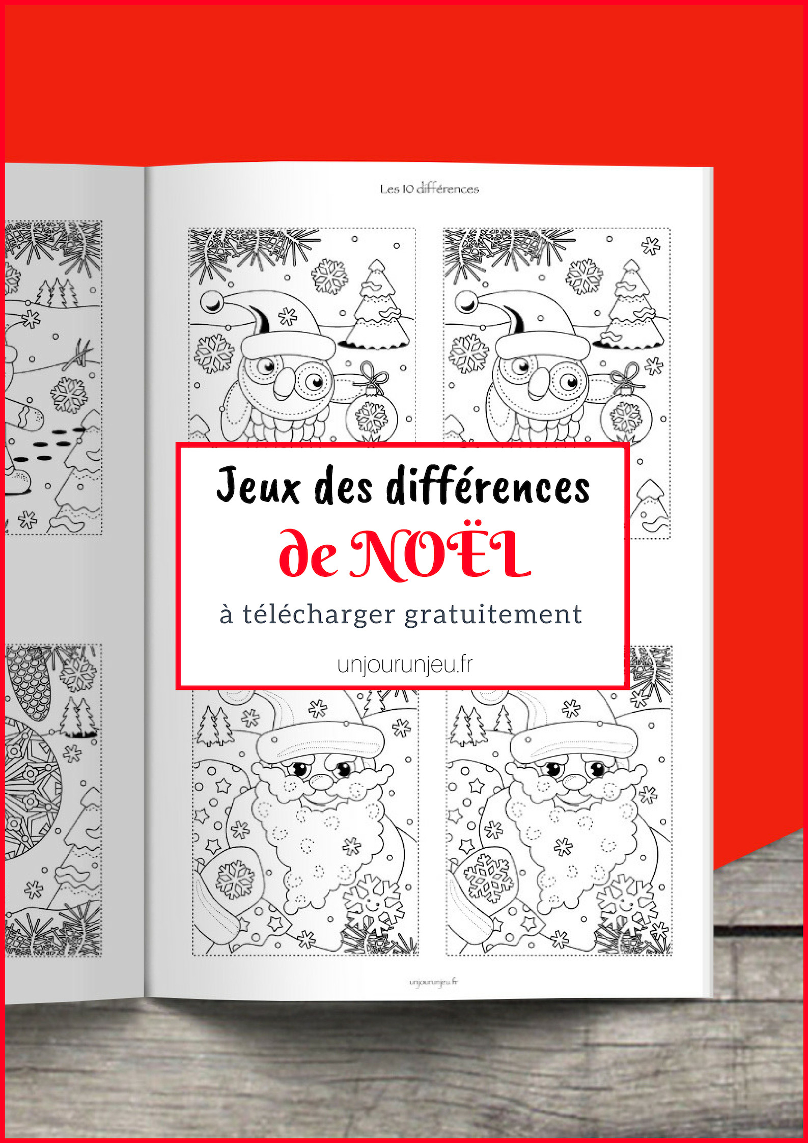 Trouve Les Différences : 11 Modèles De Noël À Imprimer serapportantà Jeux Des Différences À Imprimer Pour Adultes