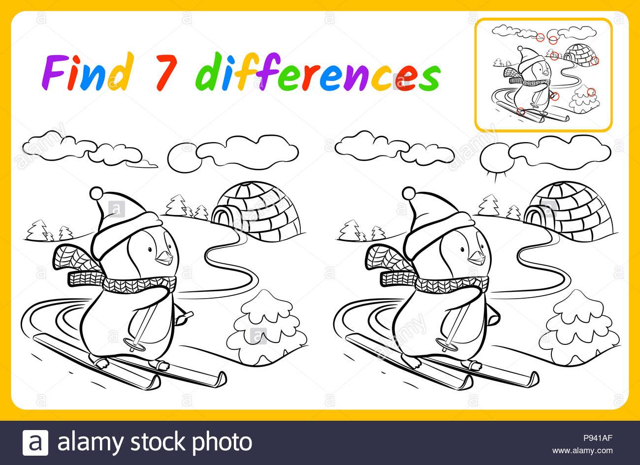 Trouver Des Différences Pour Les Enfants. Jeu De L'éducation serapportantà Trouver La Différence