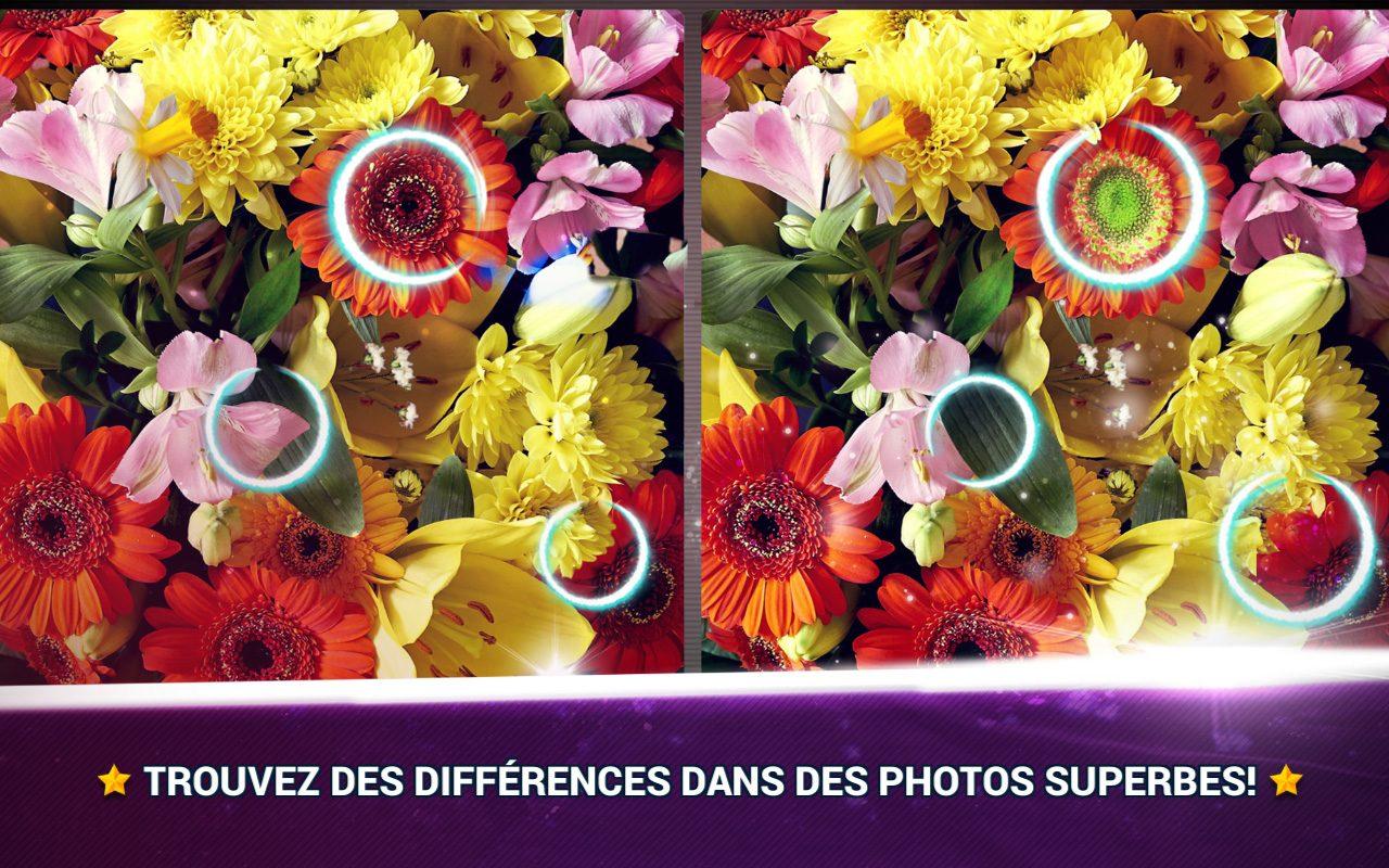 Trouver La Différence Fleurs - Jeux Des Erreurs - Jeux Midva à Trouver La Différence