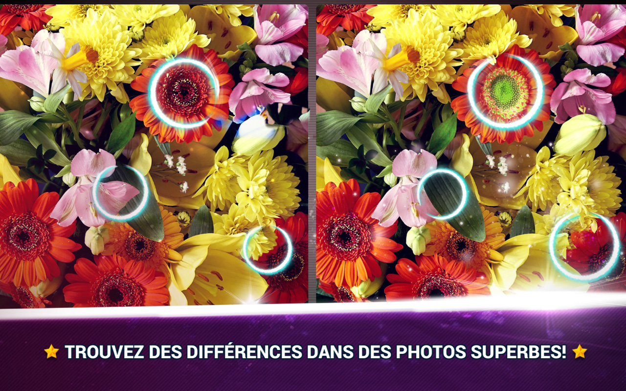 Trouver La Différence Fleurs - Jeux Des Erreurs - Jeux Midva tout Jeux De La Différence