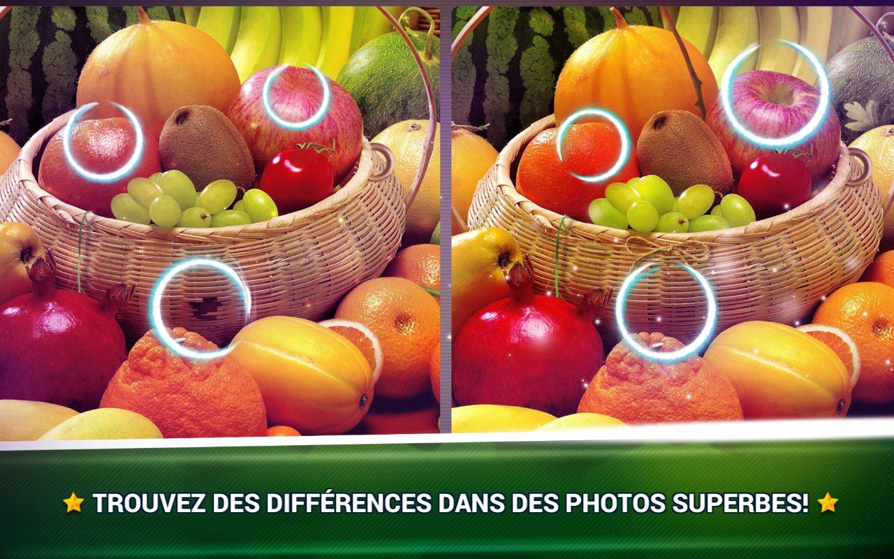 Trouver La Différence Fruits - Jeux Des Erreurs - Jeux à Jeux De Différence