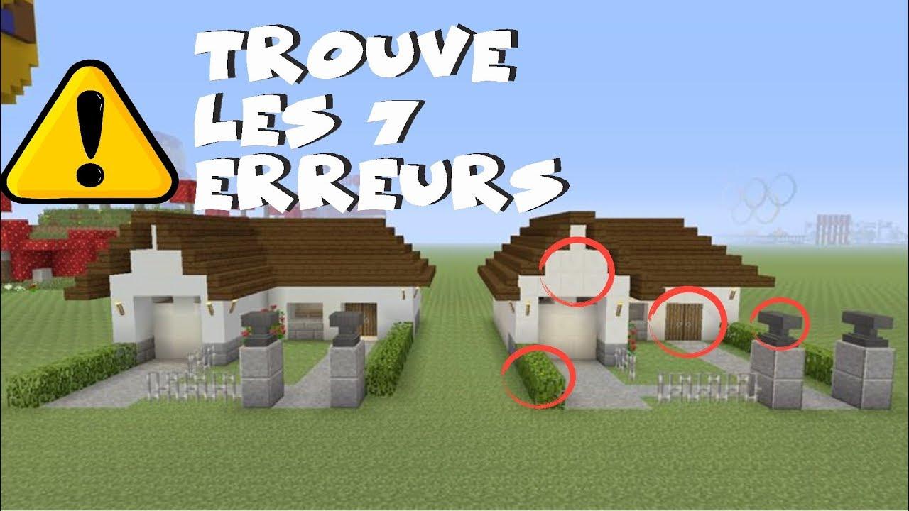Trouver Les 7 Erreurs Dans Minecraft !!! avec Trouver Les 7 Erreurs