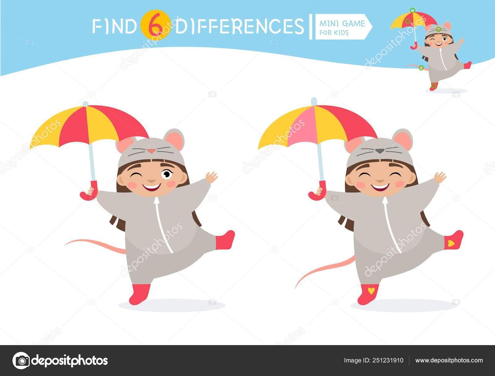 Trouvez Des Différences Jeu Éducatif Pour Les Enfants avec Jeux Enfant Dessin