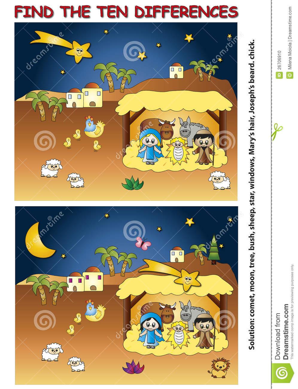 Trouvez La Différence Illustration Stock. Illustration Du concernant Trouver La Différence