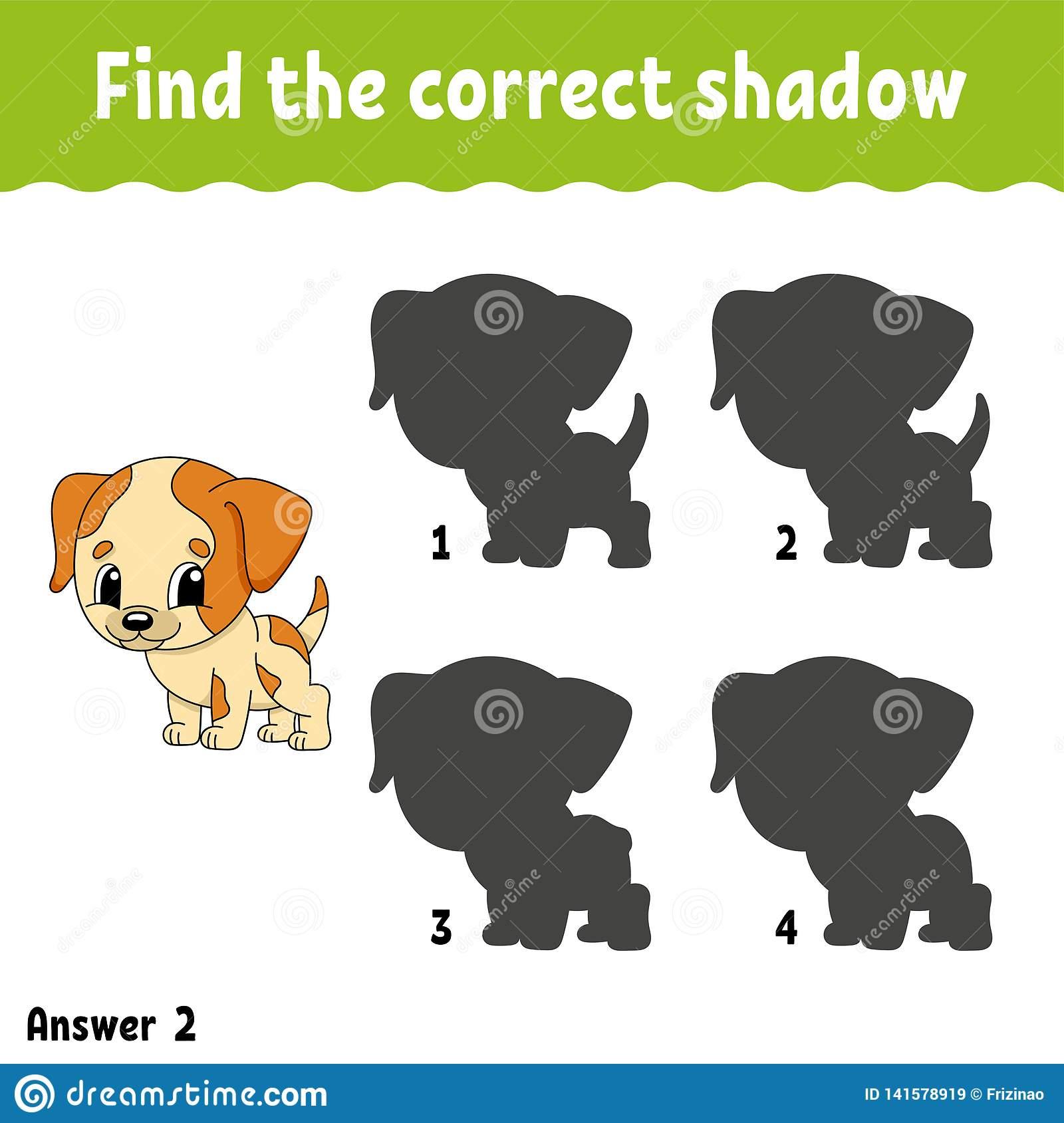 Trouvez L'ombre Correcte Tracez Une Ligne Fiche De Travail avec Puzzle En Ligne Maternelle