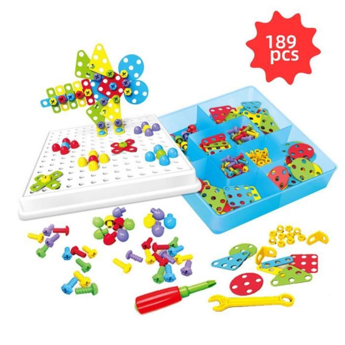 Tstr® Jeu De Construction 3D Puzzle Vis Ecrou Jouet Mosaïque à Jeux Enfant Educatif