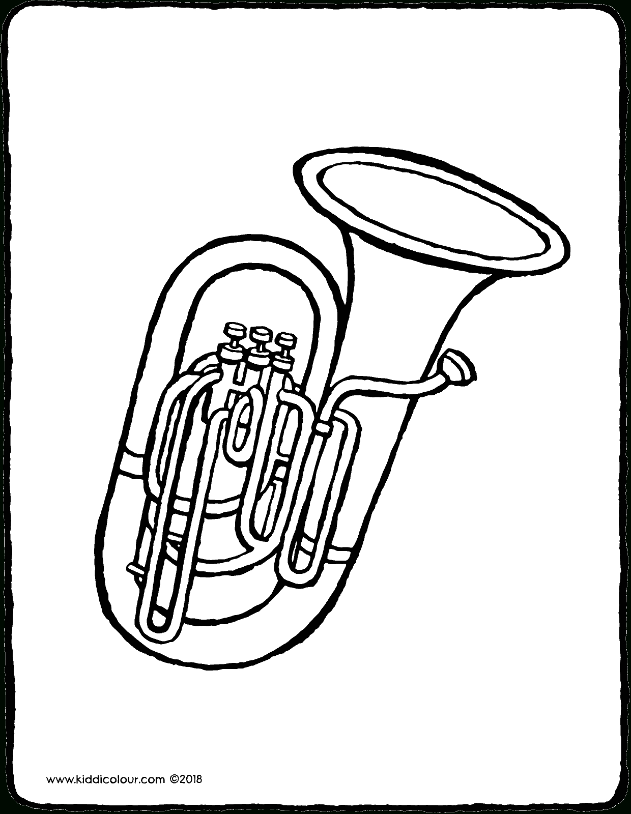 Tuba - Kiddicoloriage intérieur Trompette À Colorier