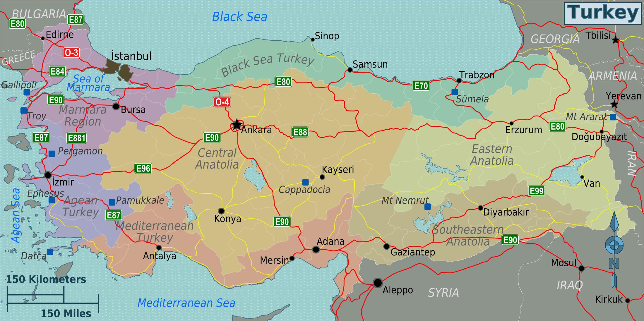 Turquie Carte tout Carte De France Avec Region