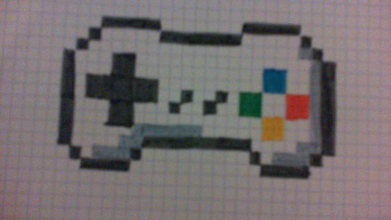 Tuto Comment Dessiner Une Manette De Jeux En Pixel Art intérieur Jeu De Coloriage Pixel