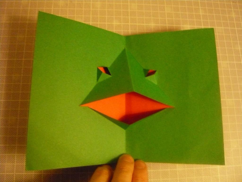 Tuto : Comment Faire Une Grenouille Pop Up Toute En serapportantà Decoupage Papier Facile