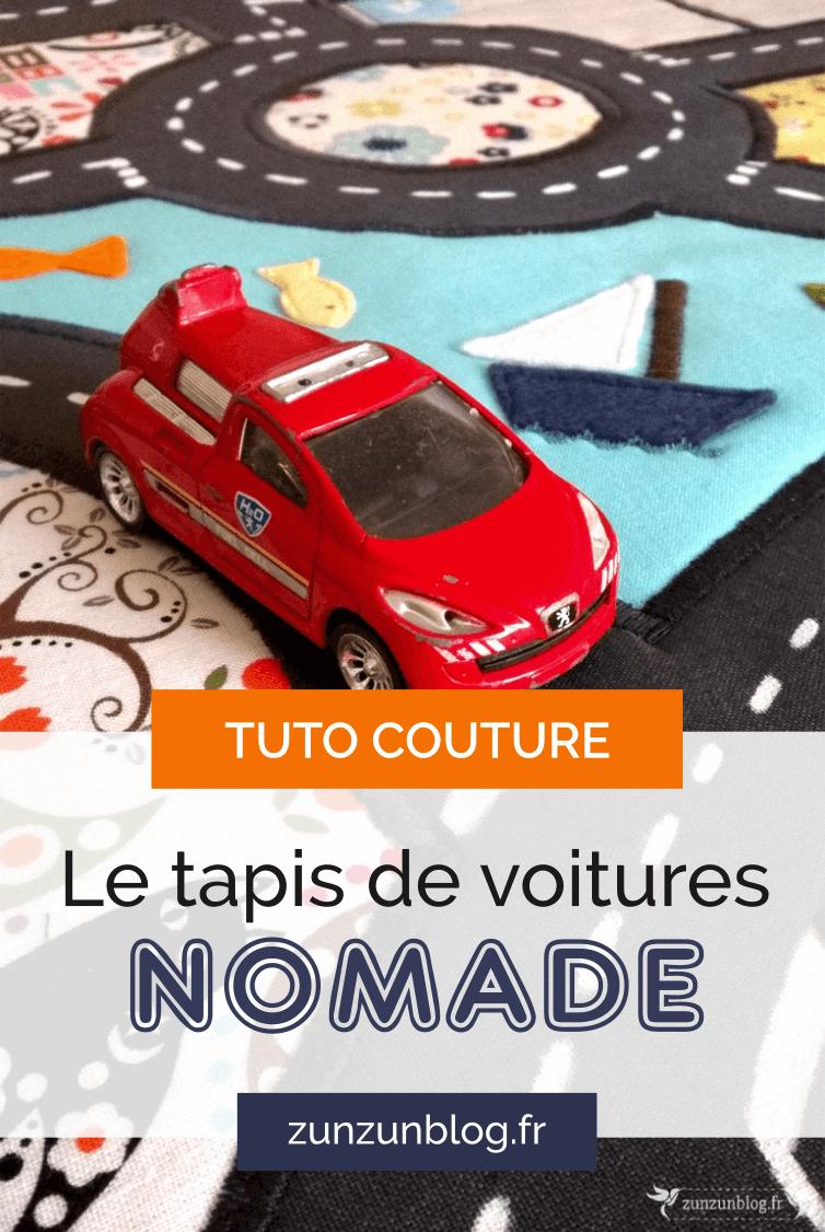 Tuto Couture : Le Tapis De Voitures Nomade encequiconcerne Jeux De Voiture Gratuit Pour Enfan