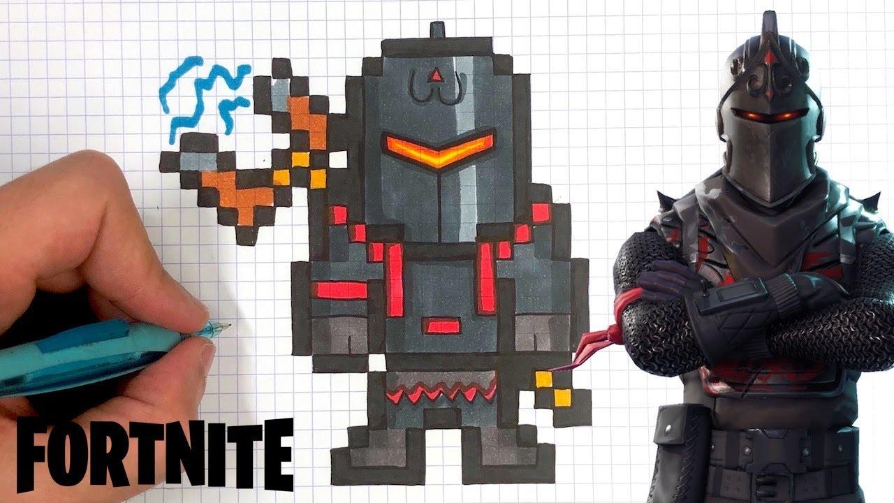 Tuto Dessin - Chevalier Noir Pixel Art Fortnite Skin intérieur Jeux De Dessin Pixel Art Gratuit