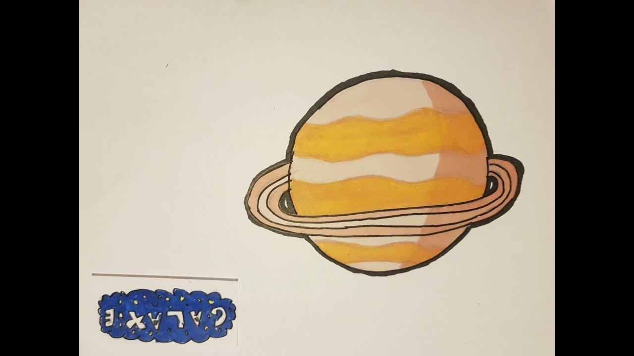 Tuto Dessiner Saturne - serapportantà Saturne Dessin