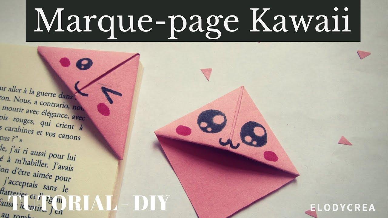 Tuto - Diy Marque-Page Kawaii - Facile tout Modele De Marque Page A Imprimer