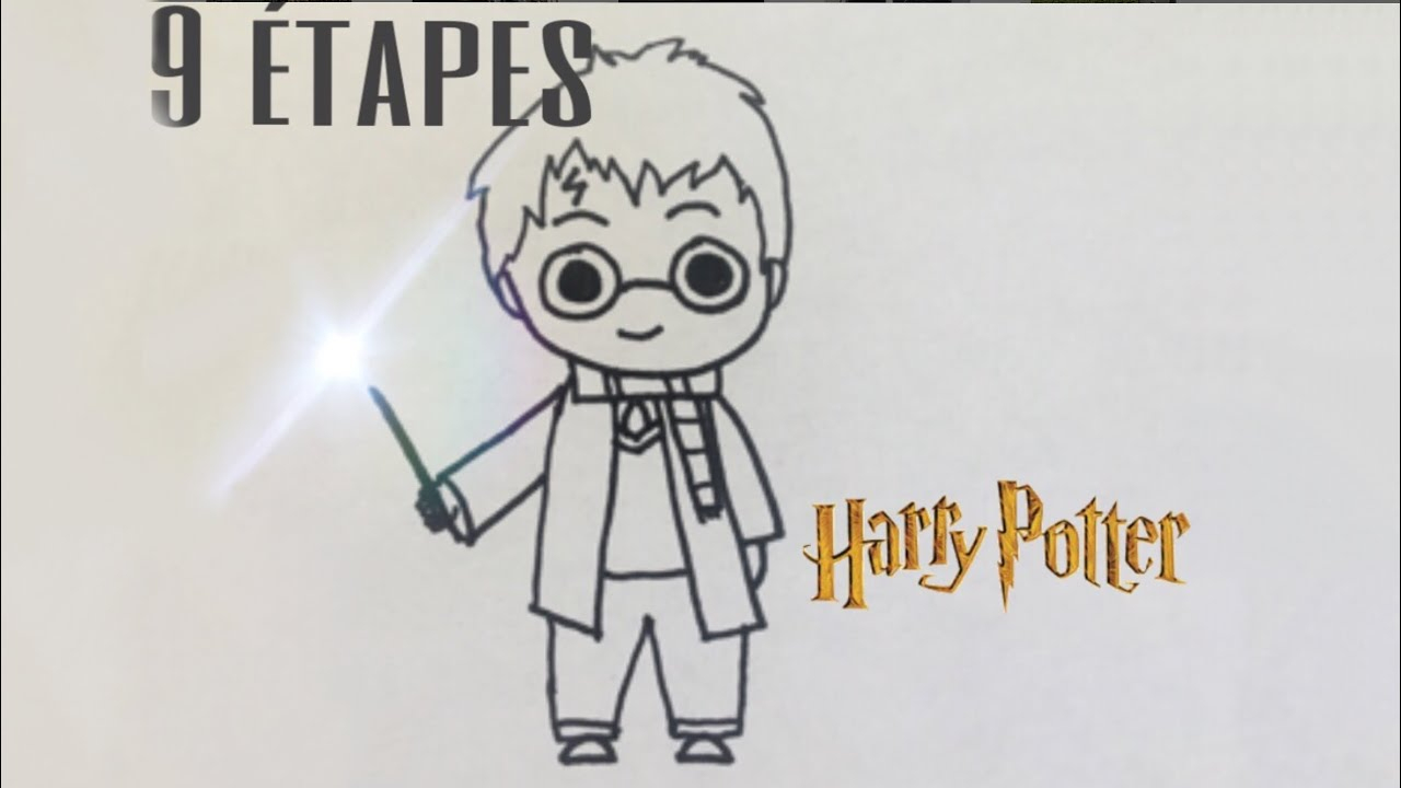 Tuto Facile Dessin De Harry Potter En 9 Étapes destiné Dessin D Harry Potter