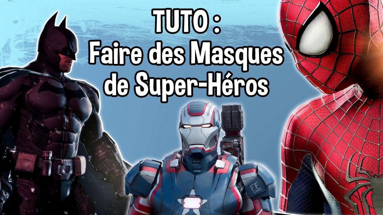 Tuto - Faire Des Masques De Super-Héros - The Amazing Spider-Man 2, Batman  Et Pleins D'autres ! encequiconcerne Masque Spiderman A Imprimer