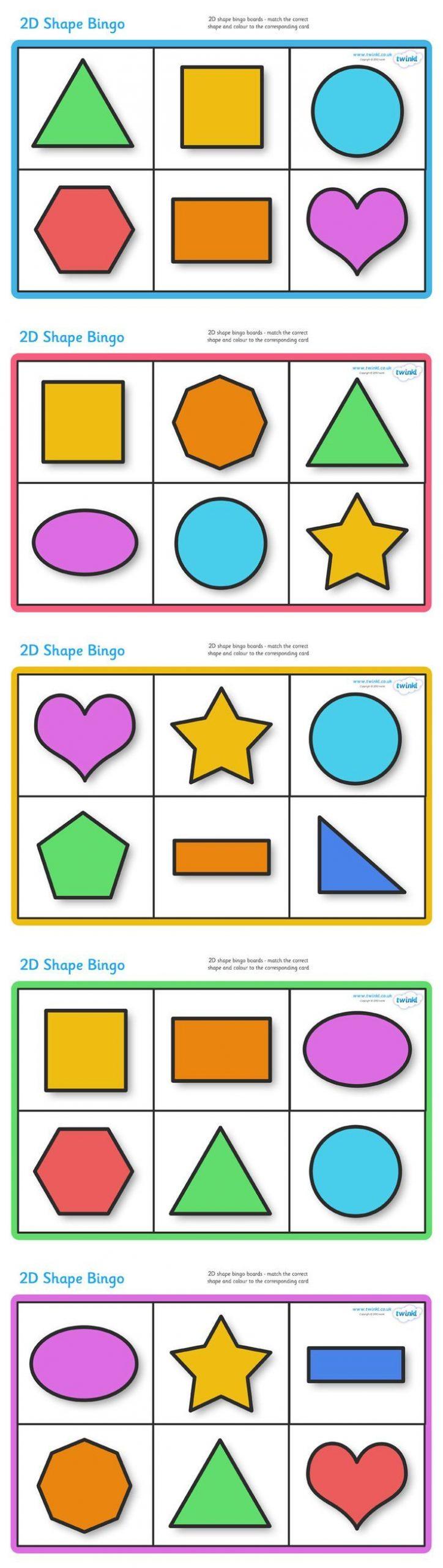 Twinkl Resources >> 2D Shape Bingo >> Classroom Printables avec Association De Formes