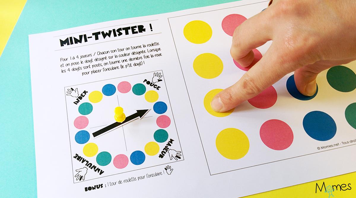 Twister À Doigts À Imprimer - Momes intérieur Jeux Pour Apprendre Les Couleurs