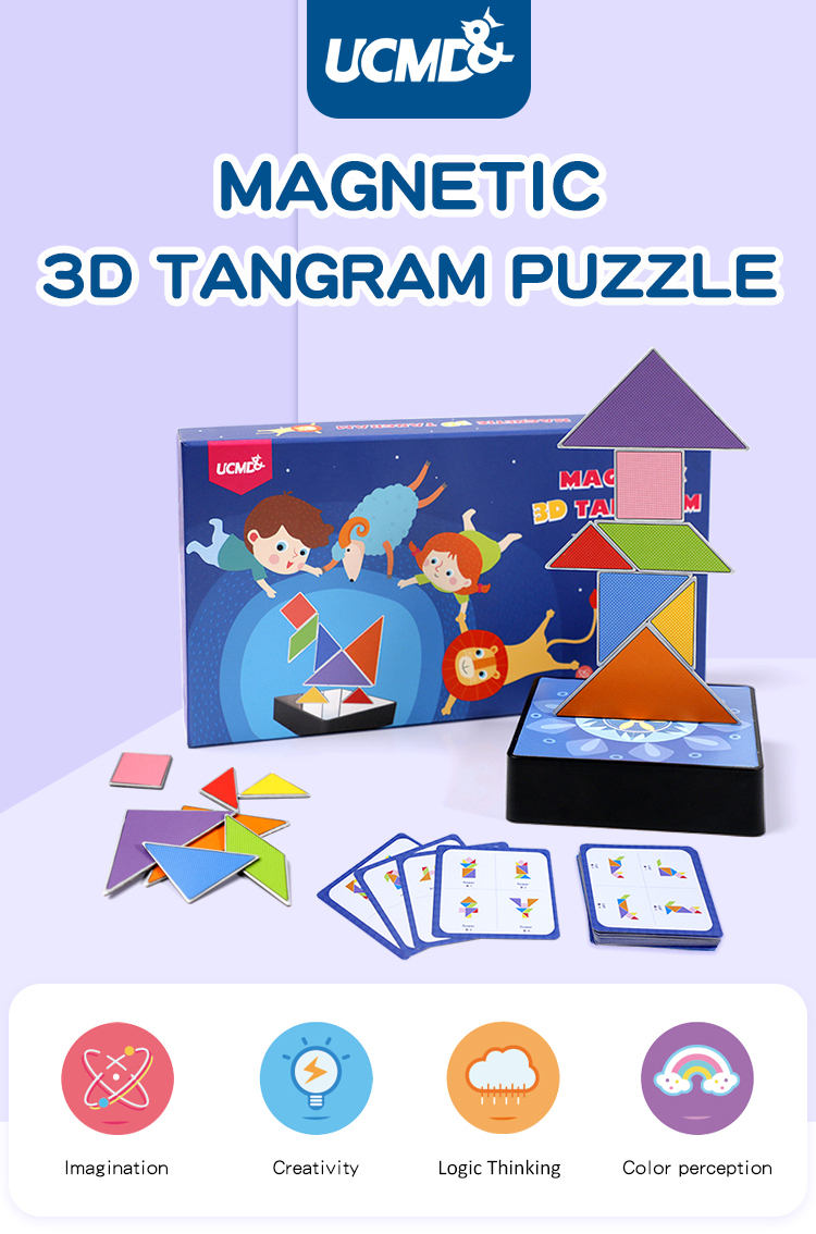 Ucmd Educational Iron Metal Magnetic Tangram Diy Puzzle Toy 3D Standing  Jigsaw Puzzle, View Ucmd Educational Iron Metal Magnetic Tangram, Ucmd  Product concernant Tangram Cycle 3